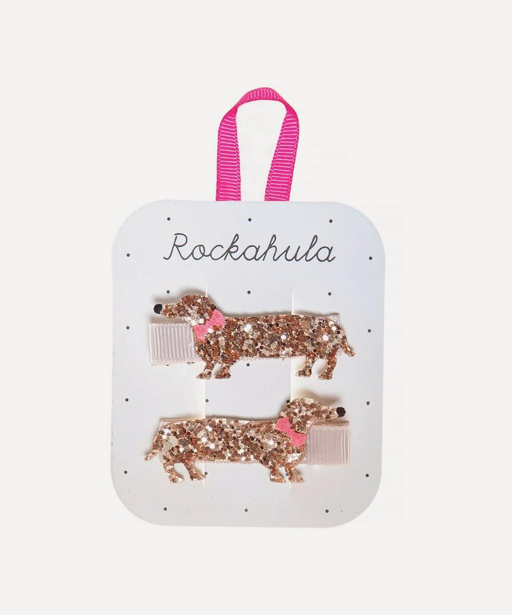 Rockahula - Morris Sausage Dog Glitter Hair Clips