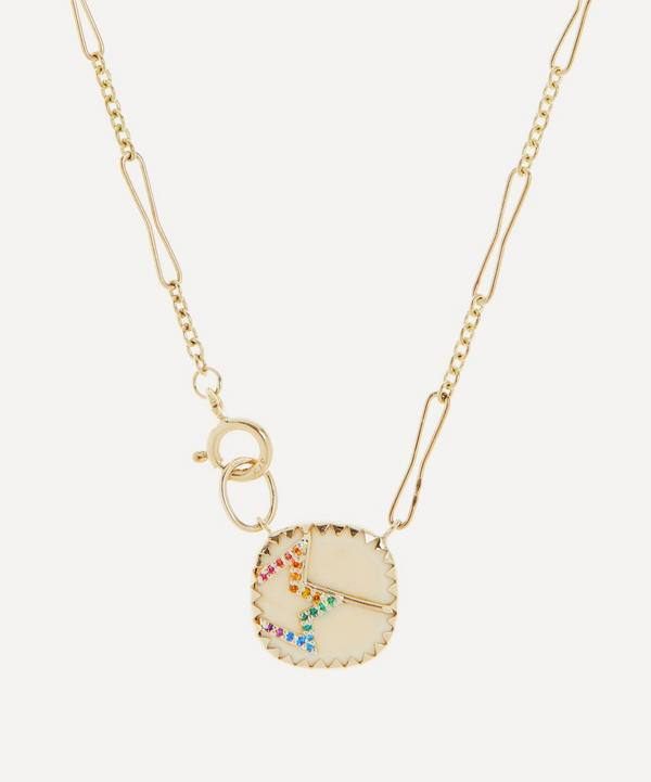 Pascale Monvoisin - 14ct Gold Varda N°2 Rainbow Nanogem and Bakelite Pendant Necklace