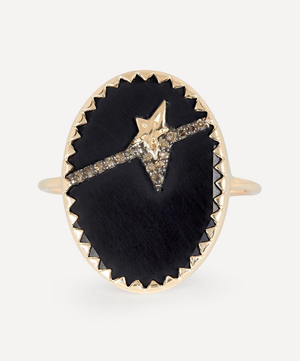 Pascale Monvoisin Accessories GOLD VARDA N°3 DIAMOND AND BAKELITE RING