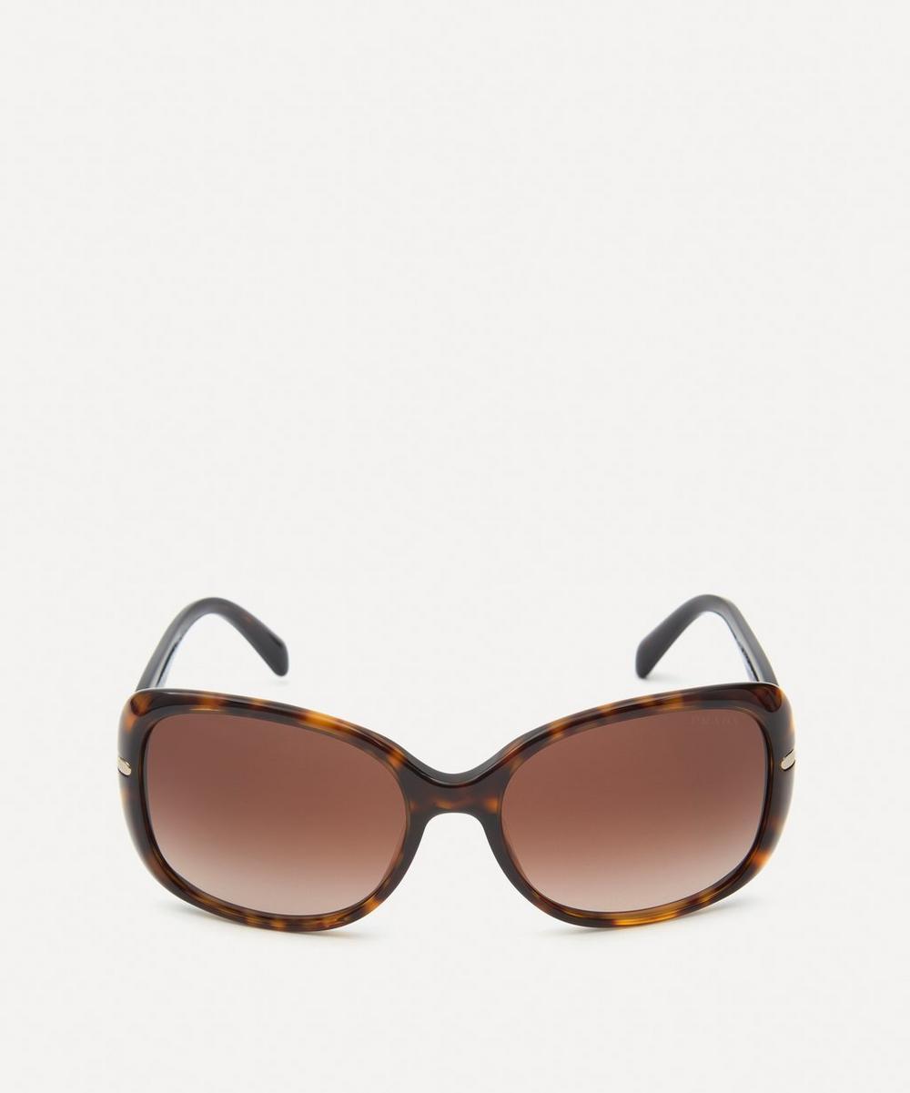 Prada Rectangular Sunglasses In Havana