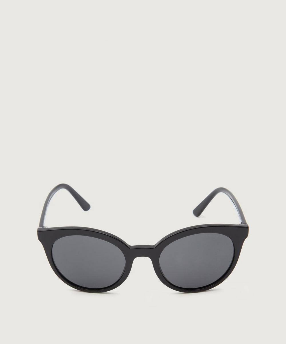 Prada Round Sunglasses In Black