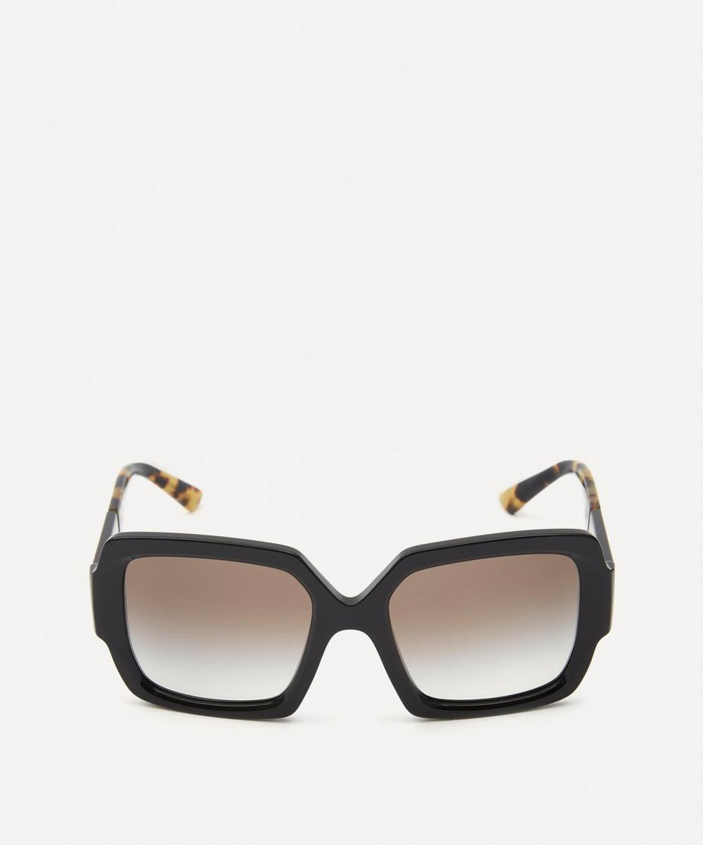 Prada Oversized Square Sunglasses In Black