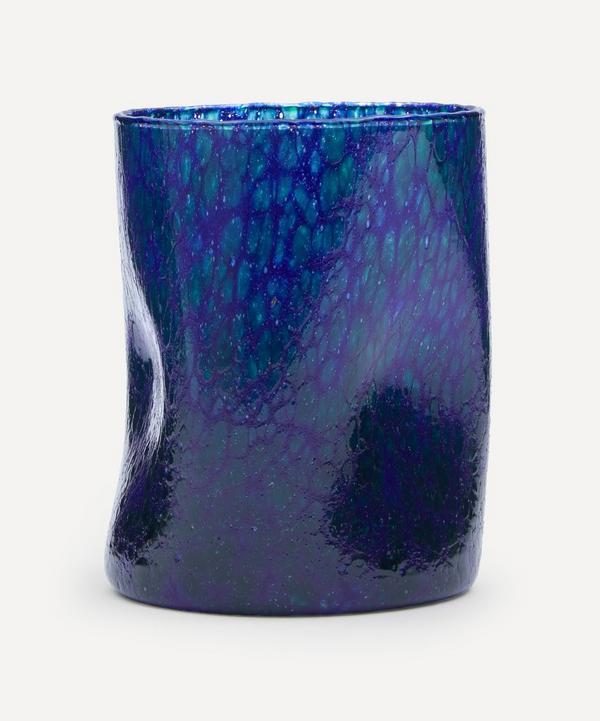 by alice - Blue Base Green Splatter Glass