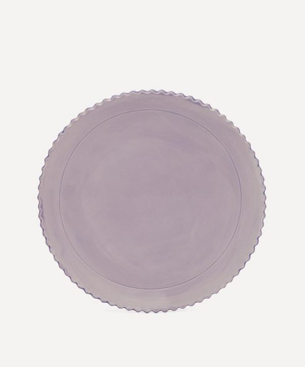 KC Hossack Pottery - Scalloped Edge Stoneware Dinner Plate