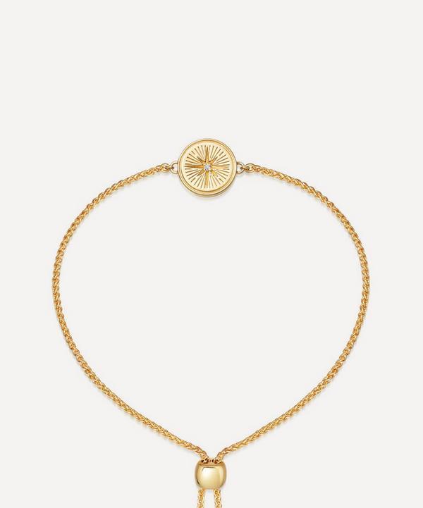 Astley Clarke - Gold Plated Vermeil Silver Celestial Compass White Sapphire Kula Bracelet