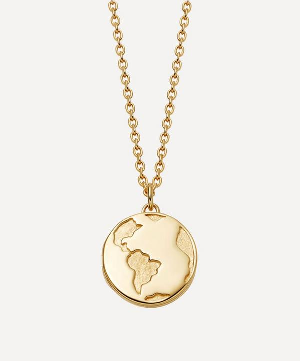 Astley Clarke - Gold Plated Vermeil Silver Biography Earth Locket Necklace
