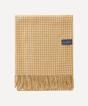 Gingham Lambswool Blanket