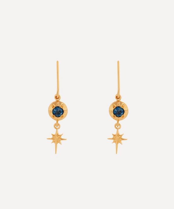 Alex Monroe - Gold-Plated Guiding Star London Blue Topaz Drop Earrings