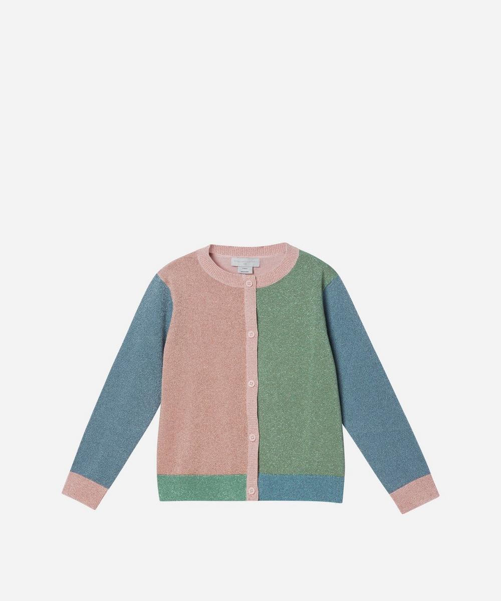 Stella McCartney Kids - Lurex Colourblock Cardigan 2-8 Years