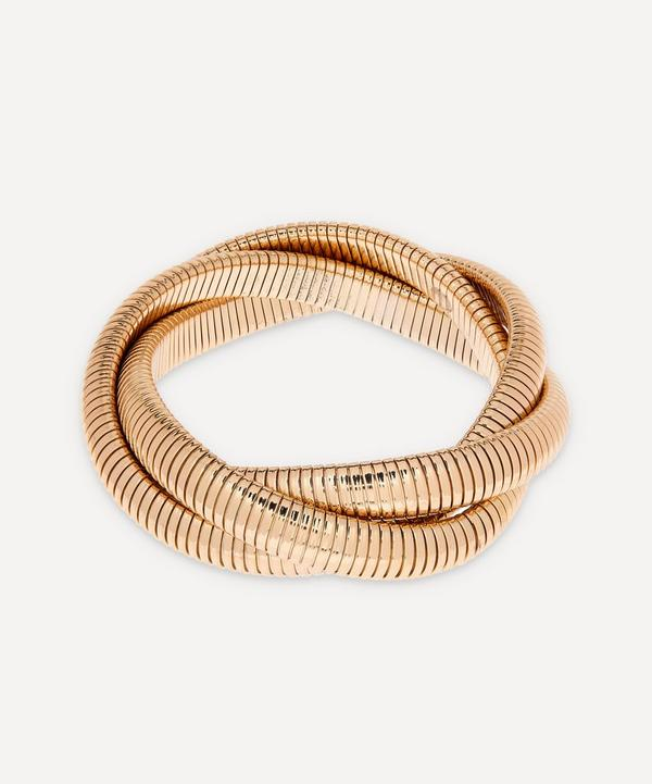 Kenneth Jay Lane - Gold-Plated Twisted Snake Chain Stretch Bracelet