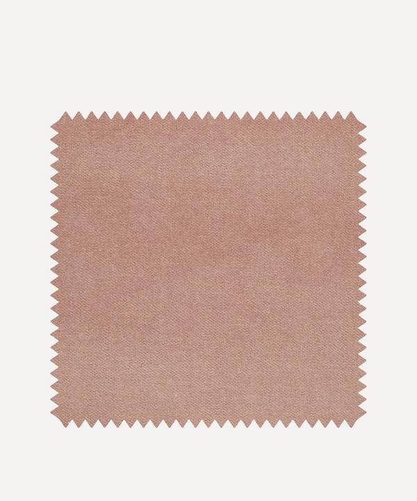 Liberty Interiors - Fabric Swatch - Slipper Plain Cotton Velvet
