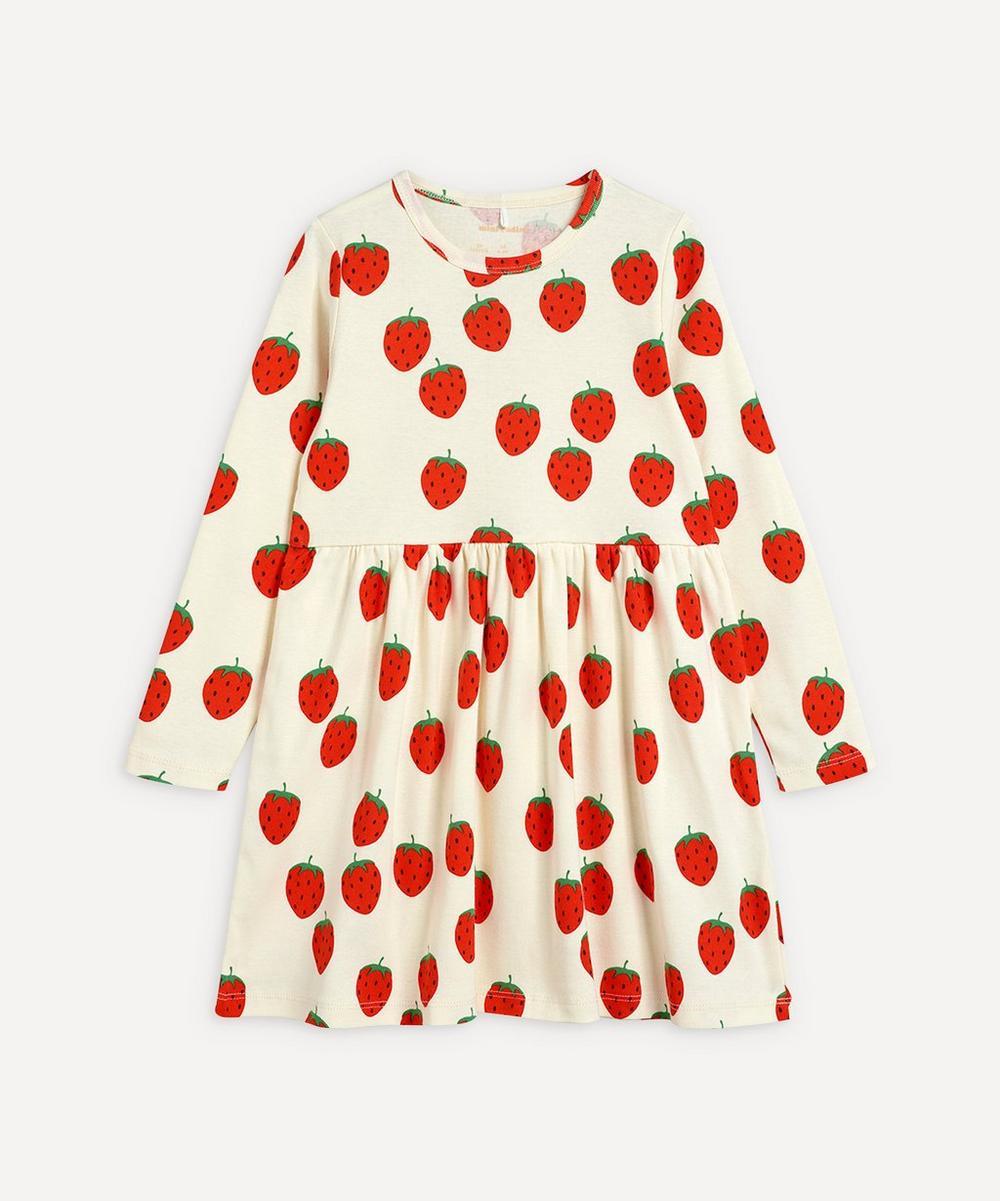 Mini Rodini - Strawberry Long-Sleeve Dress 2-8 Years