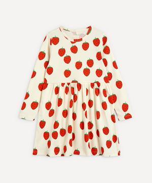 Strawberry Long-Sleeve Dress 2-8 Years