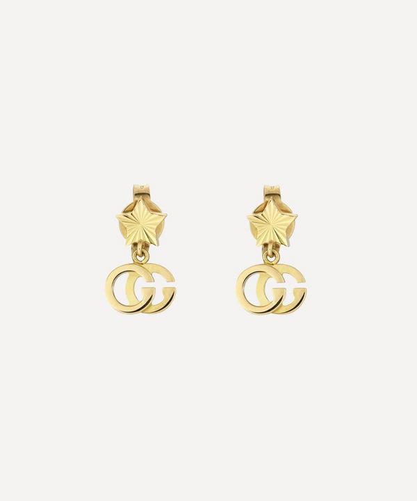 Gucci - 18ct Gold GG Running Drop Earrings