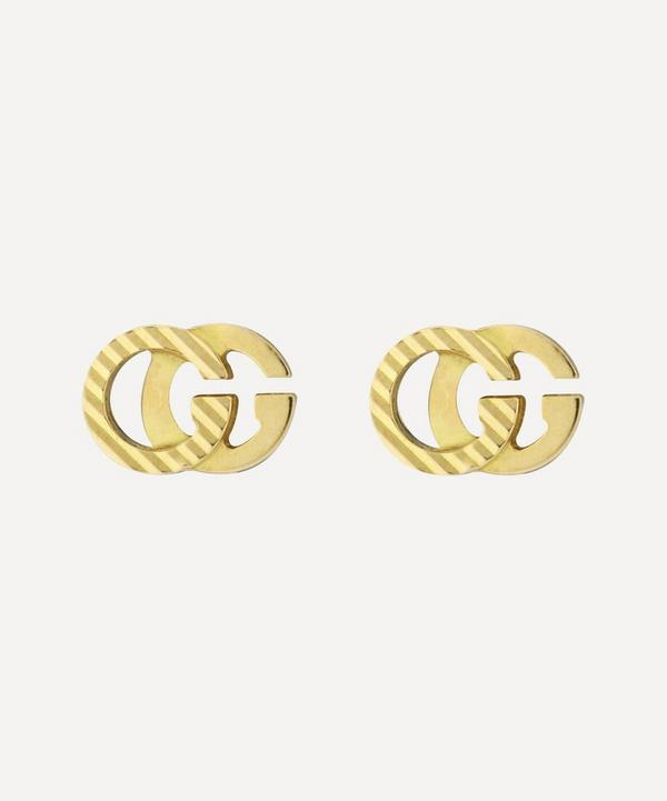 Gucci - 18ct Gold GG Running Stud Earrings