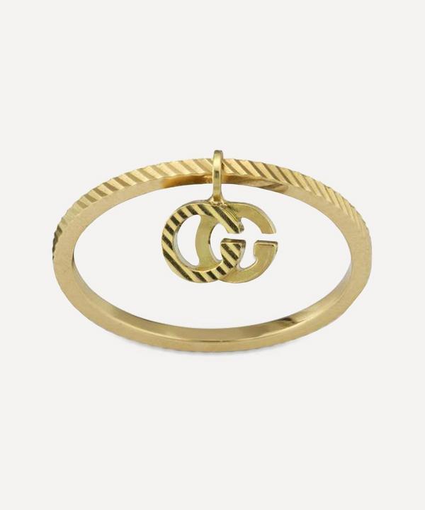 Gucci - 18ct Gold GG Running Charm Ring