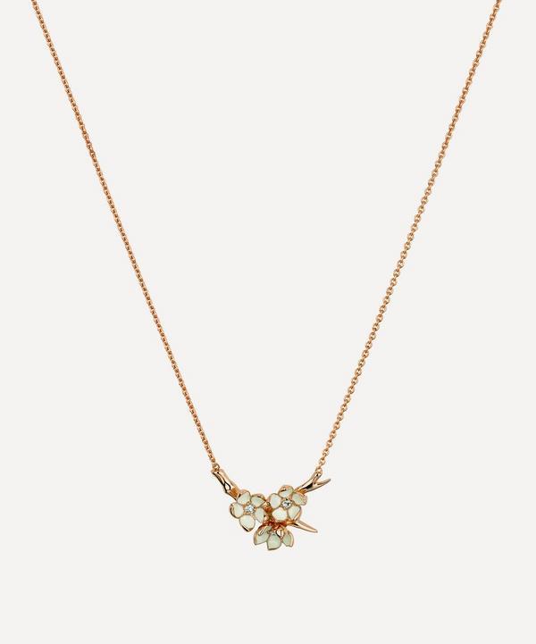 Shaun Leane - Cherry Blossom Diamond Flower Posy Pendant Necklace