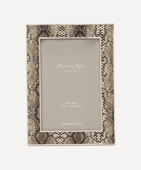 "Addison Ross - Faux Snakeskin 4x6"" Photo Frame"