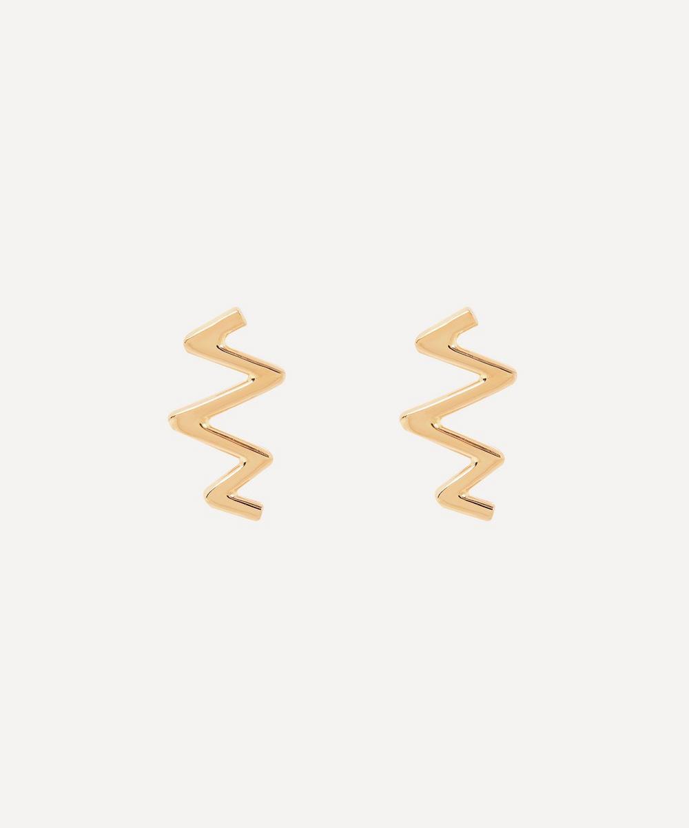 Melissa Joy Manning - Gold Lightning Bolt Stud Earrings