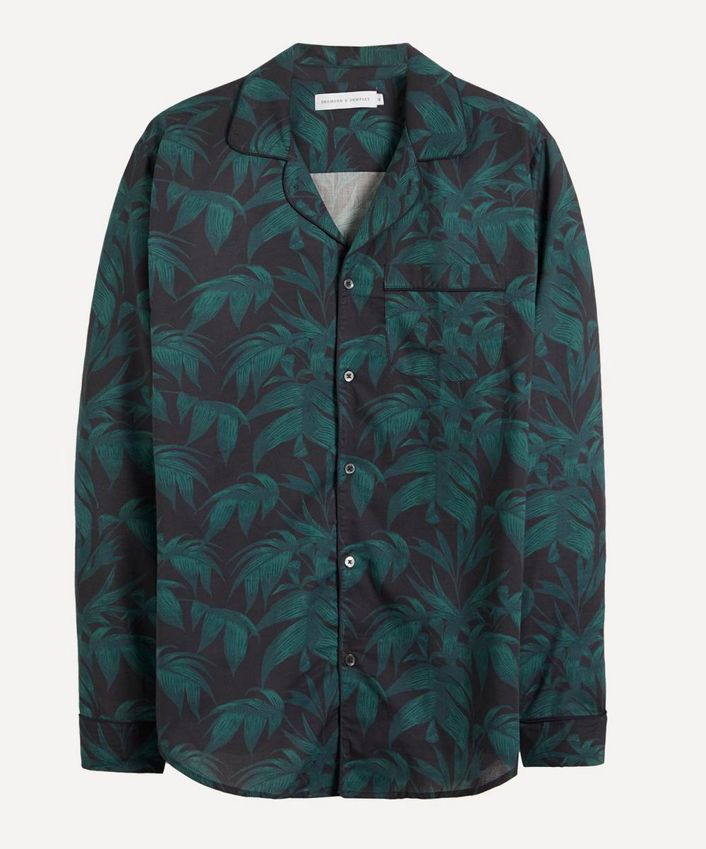 Desmond & Dempsey - Byron Leaf Cotton Pyjama Shirt