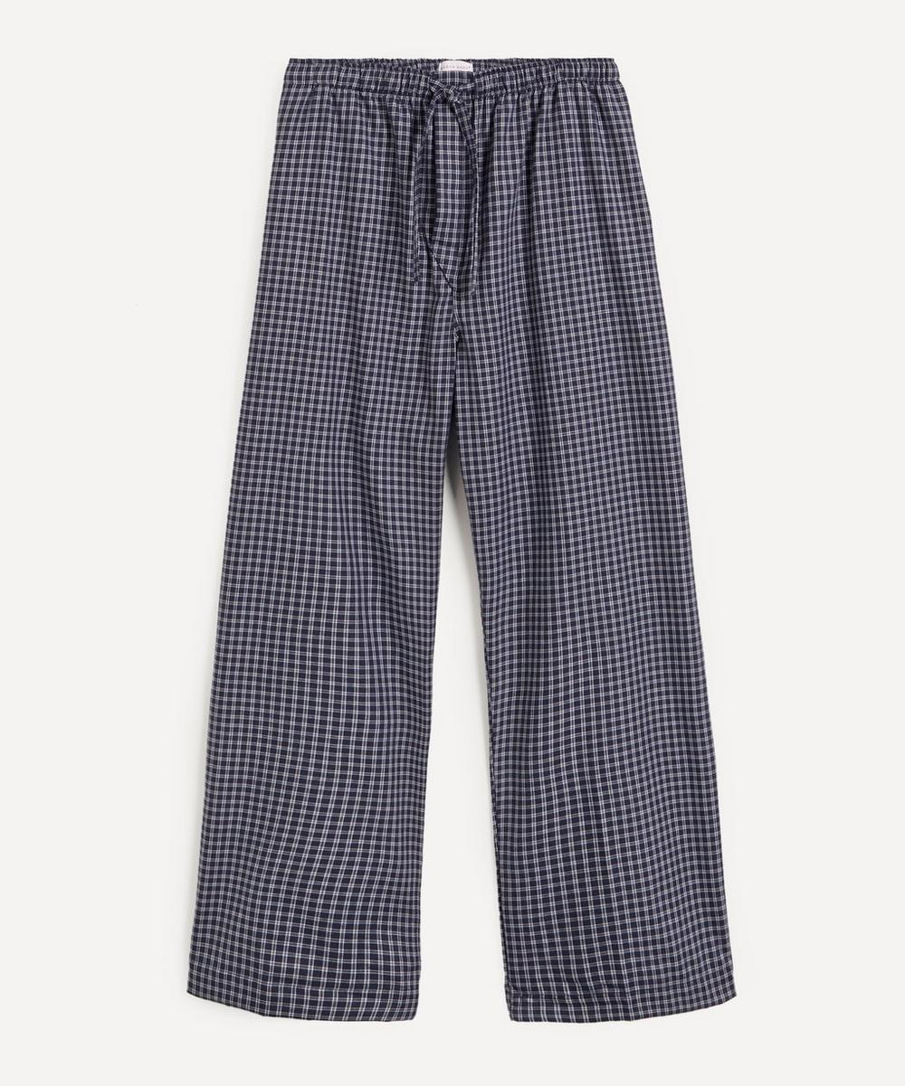 Derek Rose BRAEMAR BRUSHED CHECK PYJAMA BOTTOMS