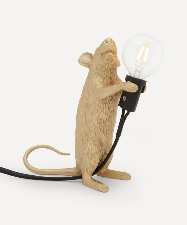 Seletti - Gold Standing Mouse Lamp