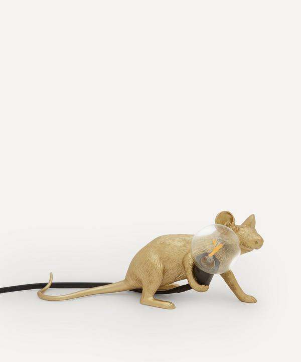 Seletti - Gold Lying Down Mouse Lamp