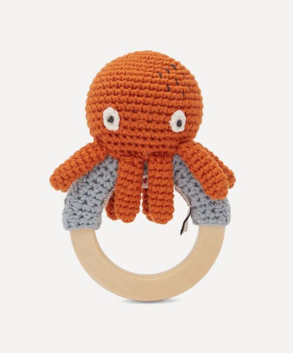 Sebra - Octopus On Ring Crochet Rattle