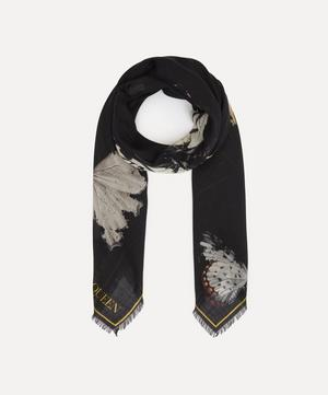 Exploded Butterfly Wool-Blend Scarf