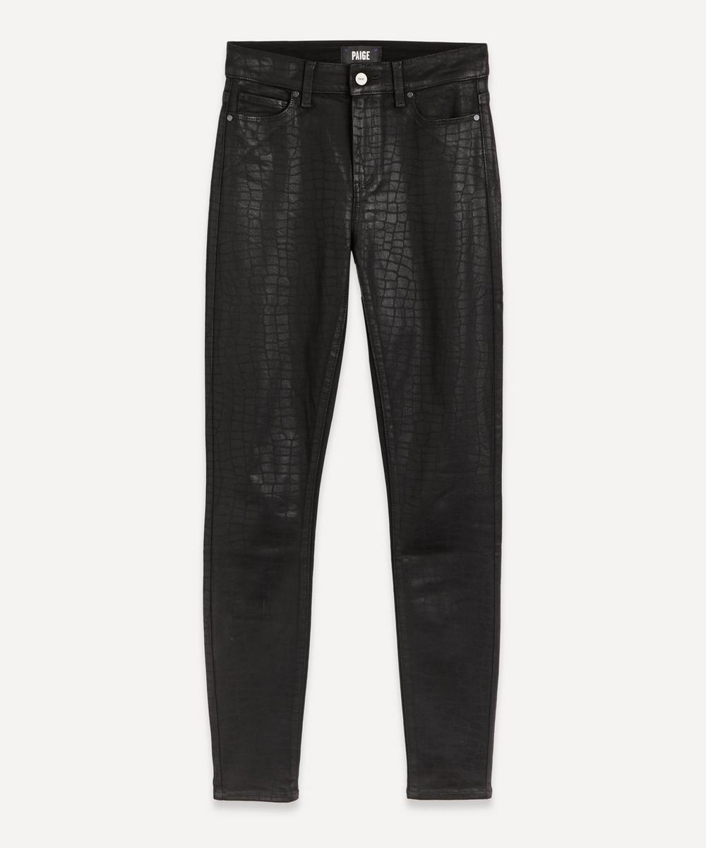 Paige - Hoxton Ultra-Skinny Croc-Coated Jeans