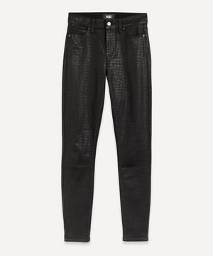 Hoxton Ultra-Skinny Croc-Coated Jeans