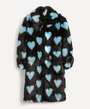 Lorca Heart Faux-Fur Long Coat