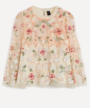Harlequin Rose Sequin Top