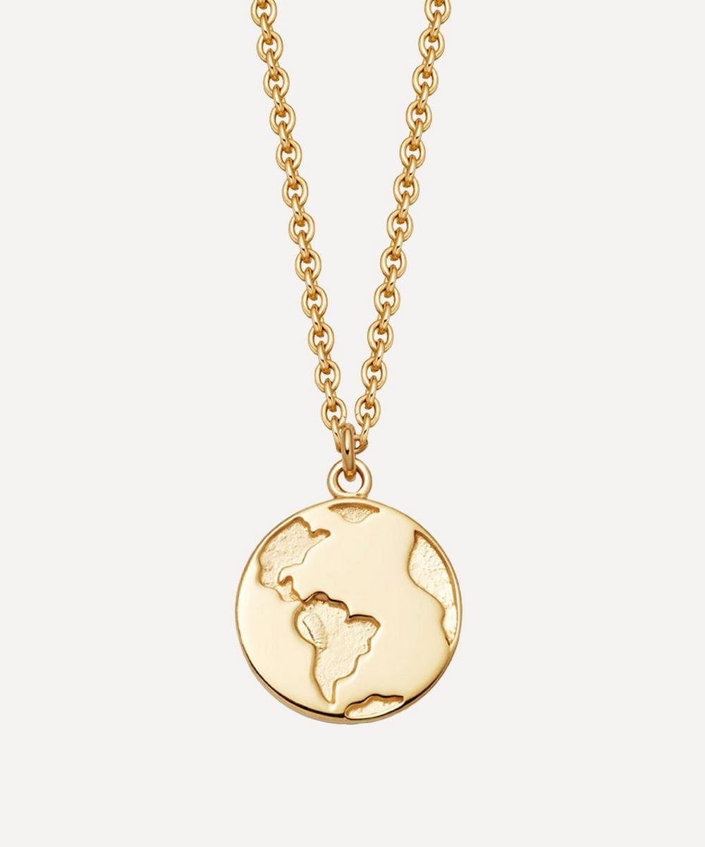 Astley Clarke - Gold Plated Vermeil Silver Biography Earth Pendant Necklace