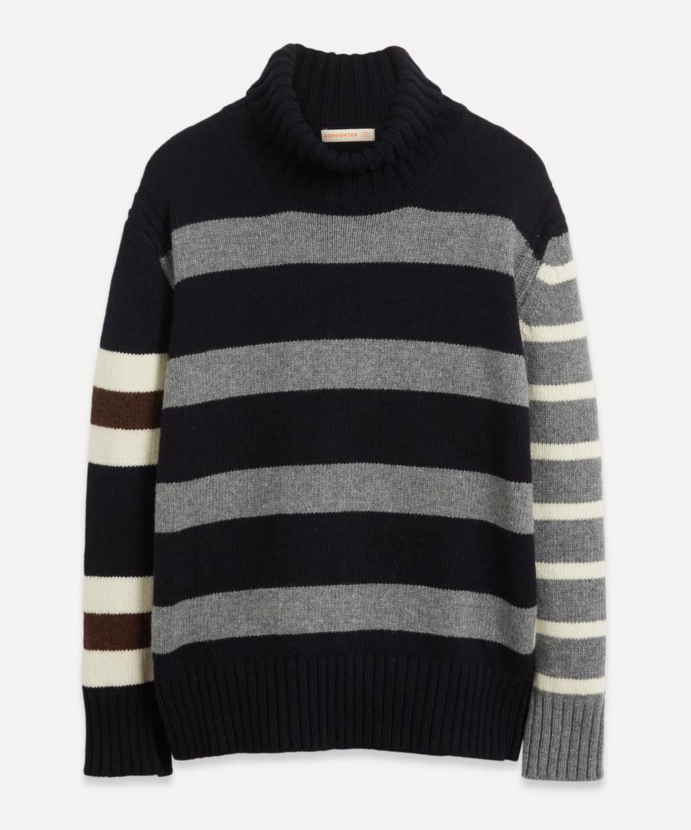 &Daughter - Fintra Stripe Wool Roll-Neck Knit