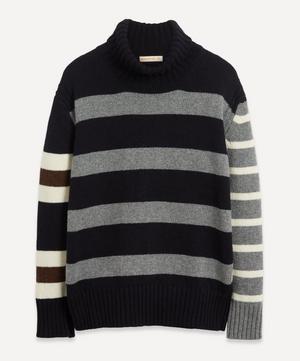 Fintra Stripe Wool Roll-Neck Knit