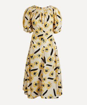 Maggie Off-Shoulder Puff-Sleeve Dress