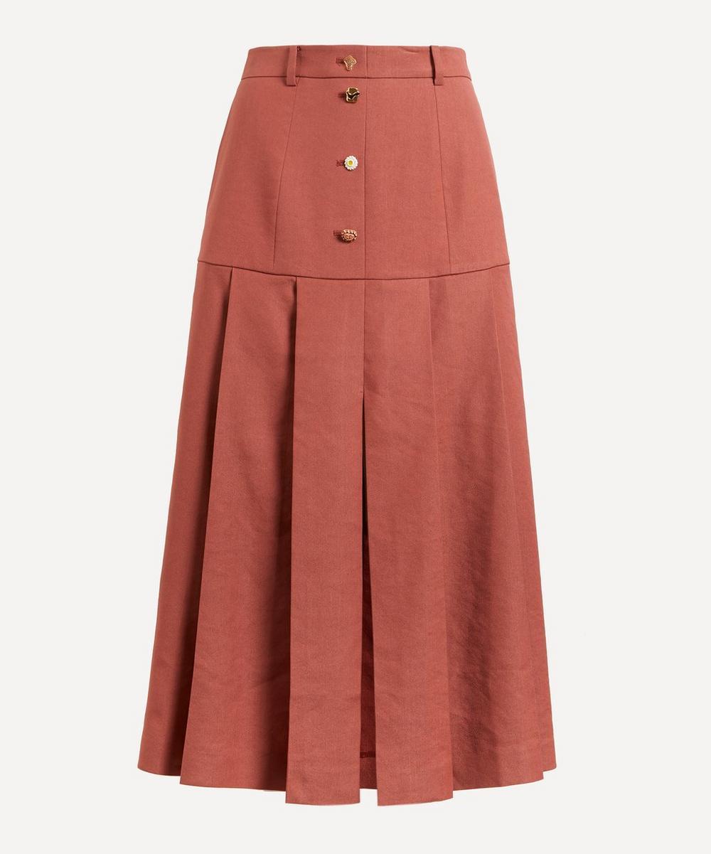 Rejina Pyo - Miller Linen Pleated Skirt