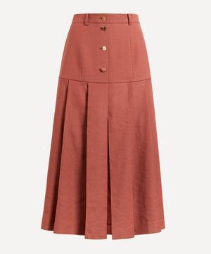 Miller Linen Pleated Skirt