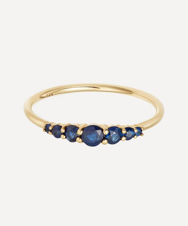 Astley Clarke - 14ct Gold Blue Sapphire Stacking Ring