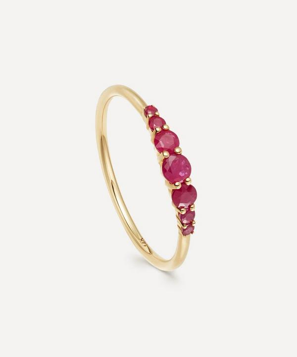 Astley Clarke - 14ct Gold Ruby Stacking Ring