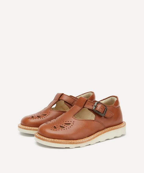 Young Soles - Rosie Chestnut Brown T-Bar Shoes Size 20-25