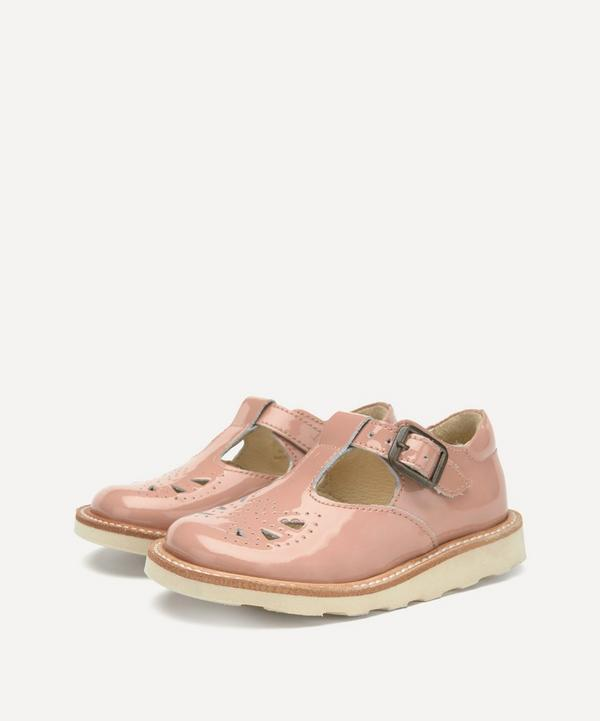 Young Soles - Rosie T-Bar Blush Patent Shoes Size 20-25