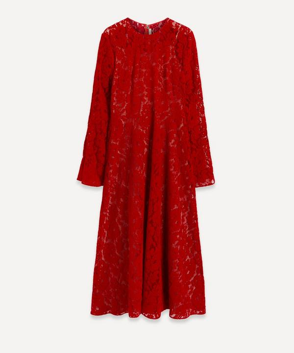 Christopher Kane - Flock Lace Angel-Sleeve Dress