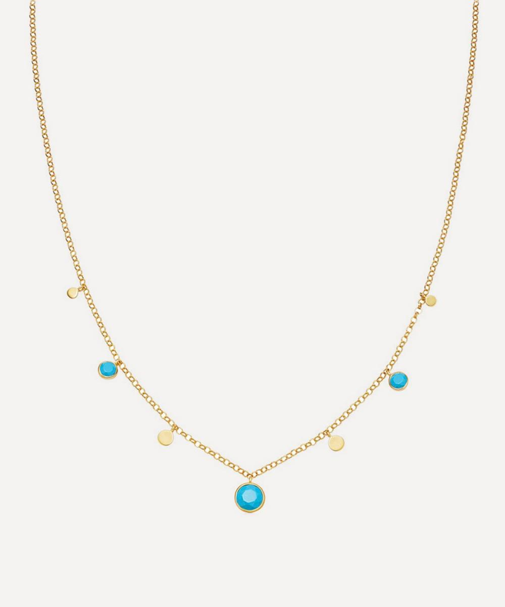 Astley Clarke Gold Plated Vermeil Silver Stilla Droplet Turquoise Pendant Necklace
