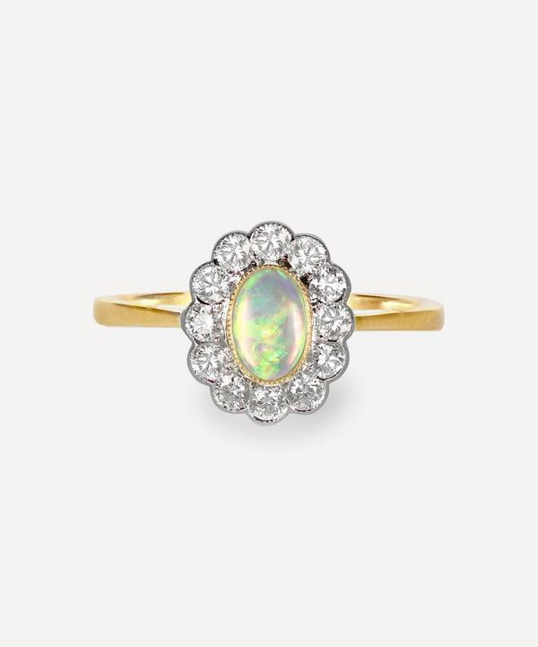 Kojis - 18ct Gold Opal and Diamond Cluster Ring