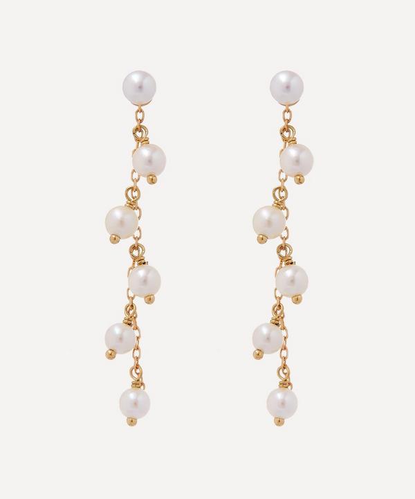 Mizuki - 14ct Gold Pearl Fringe Detachable Drop Earrings