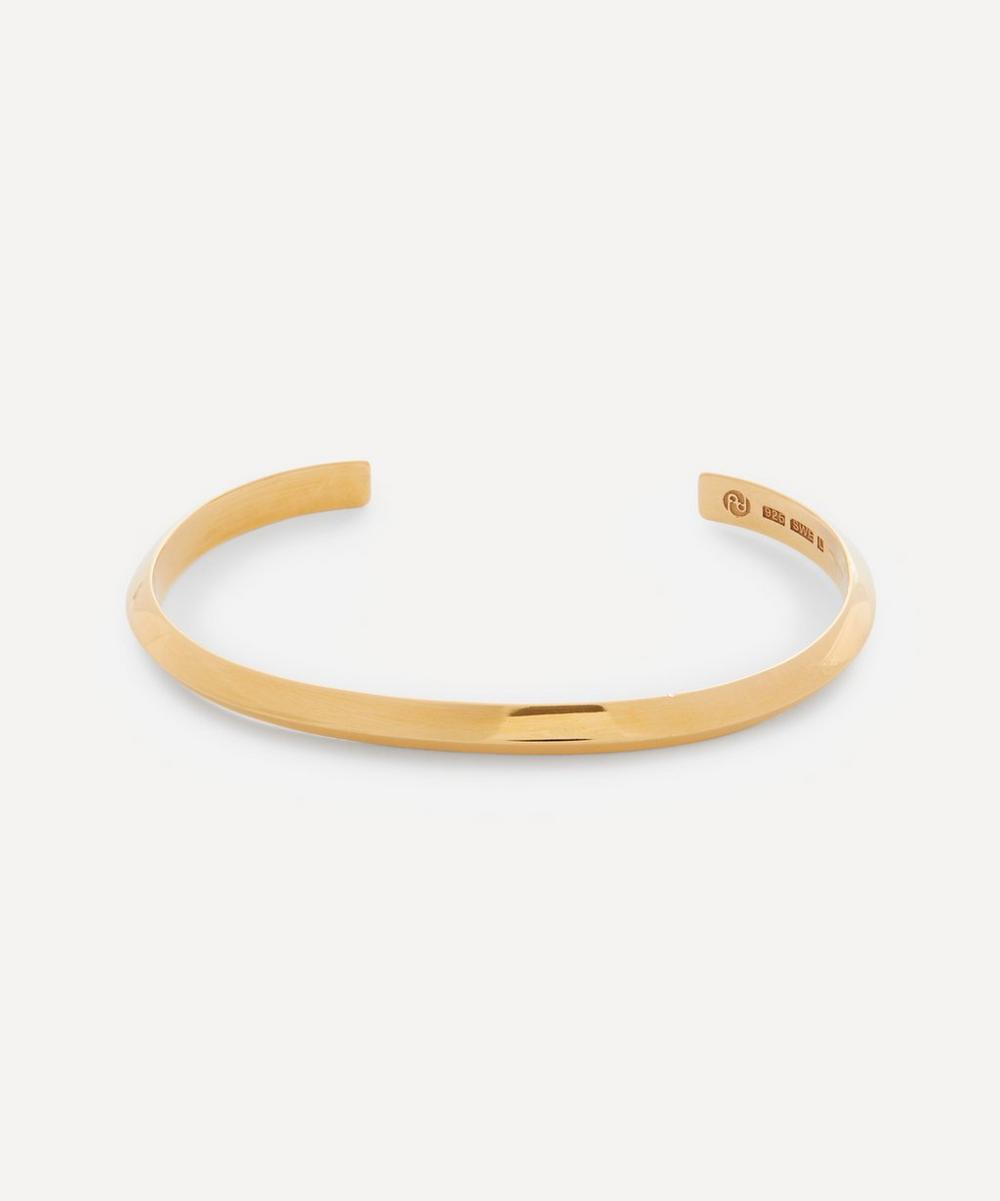 All Blues - Gold Plated Vermeil Silver Triangle Bracelet