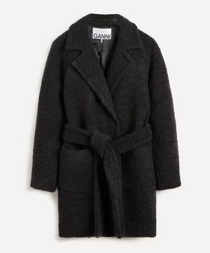 Bouclé Wool-Blend Wrap-Coat