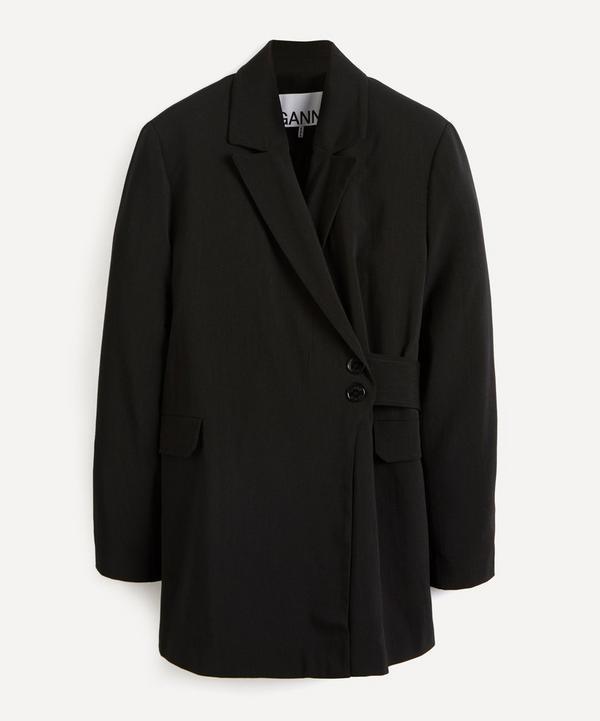 Ganni - Melange Wrap-Around Blazer Jacket